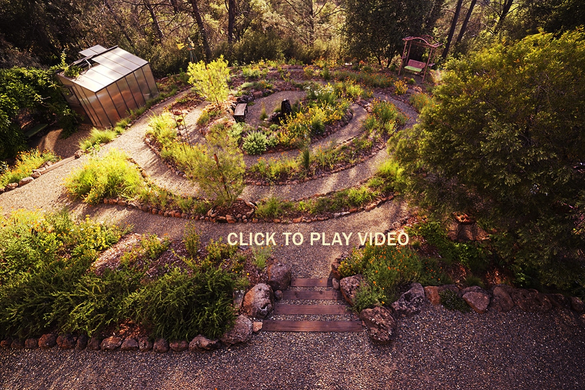 Unique landscaping spiral garden solution